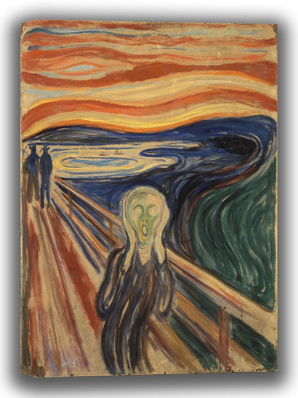 Munch, Edvard: The Scream. Fine Art Canvas. Sizes: A4/A3/A2/A1 (0080)